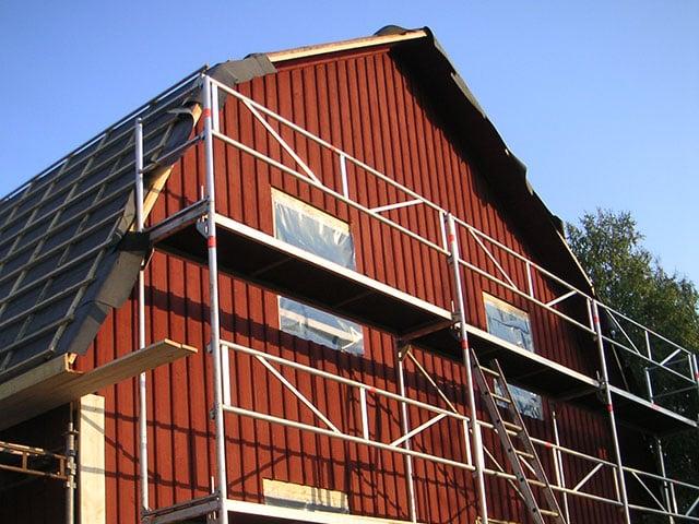 Nybyggnation av villa, Bärby Uppsala